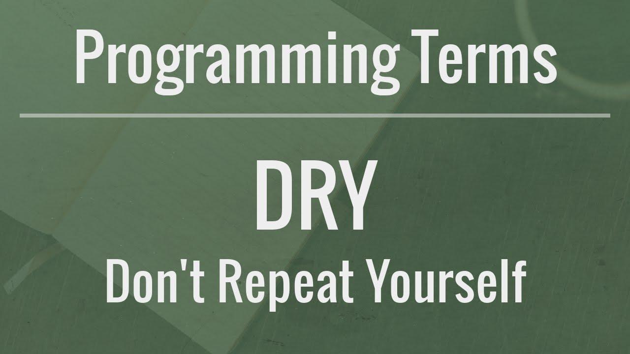 DRY Principle in computer programming