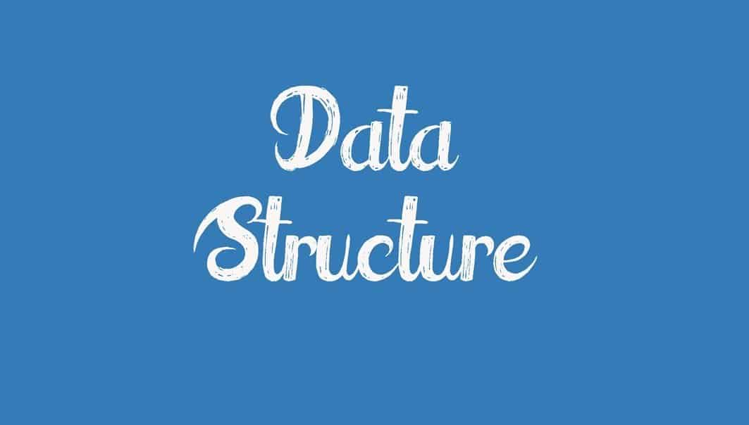 word data structure written in a blue background