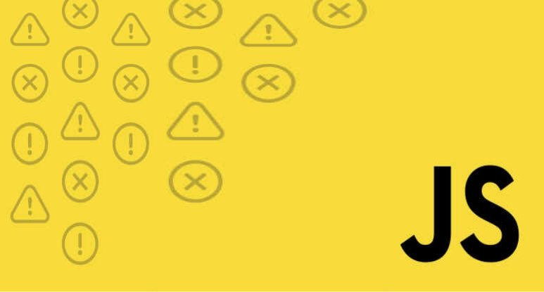 Caution and Error logo on left side; background: yellow; lower right word: JS - abbreviation of JavaScript