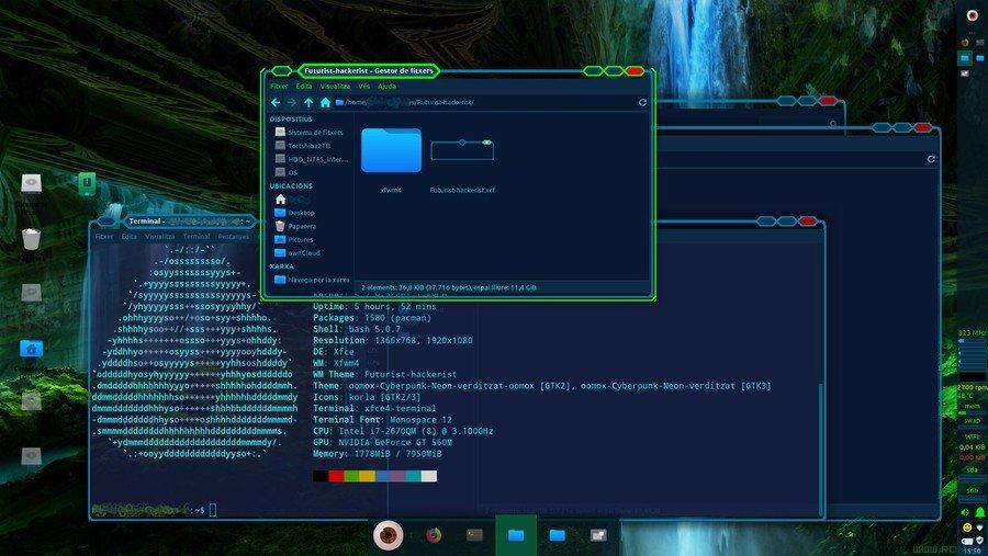 Futurist-Hackerist - Xfce flat theme