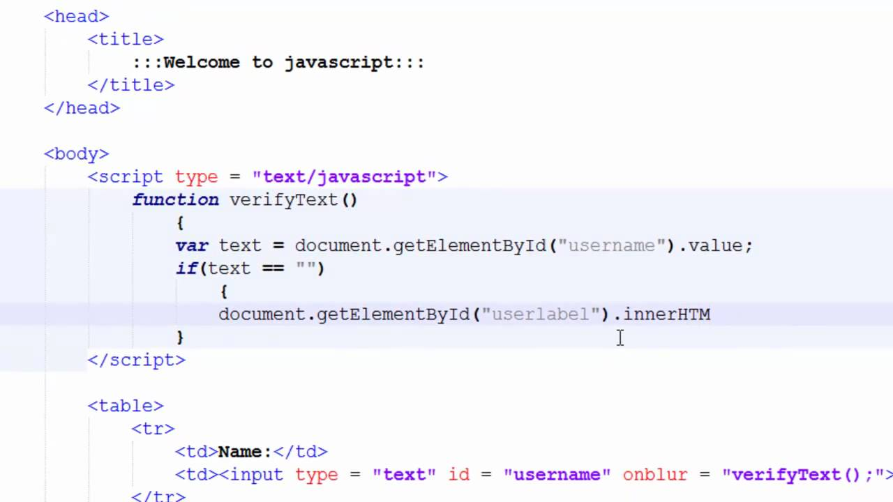 get element id example in code