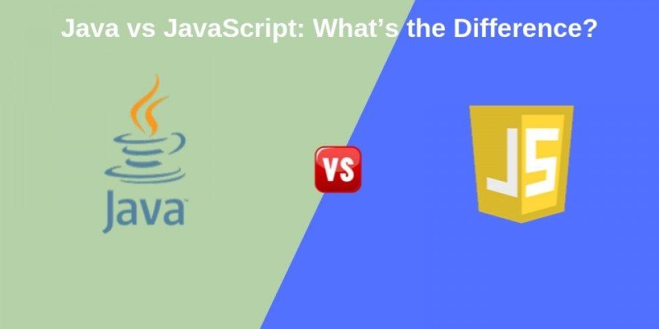 Java Logo, Word Java Beneath Vs JavaScript Logo