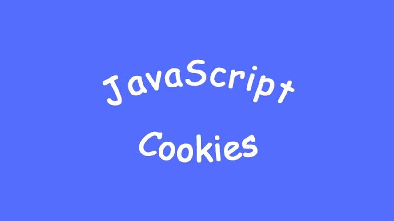Sky Blue Background, Middle Text in Oval Shape: JavaScript Cookies; Type: JS Interview Questions