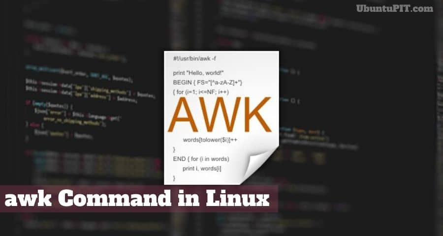 awk Command in Linux
