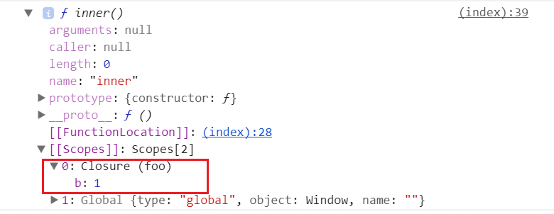 Closure example in line of codes; type: JavaScript Interview Questions