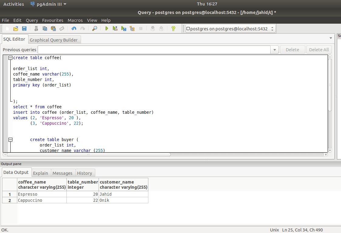 install PostgreSQL database