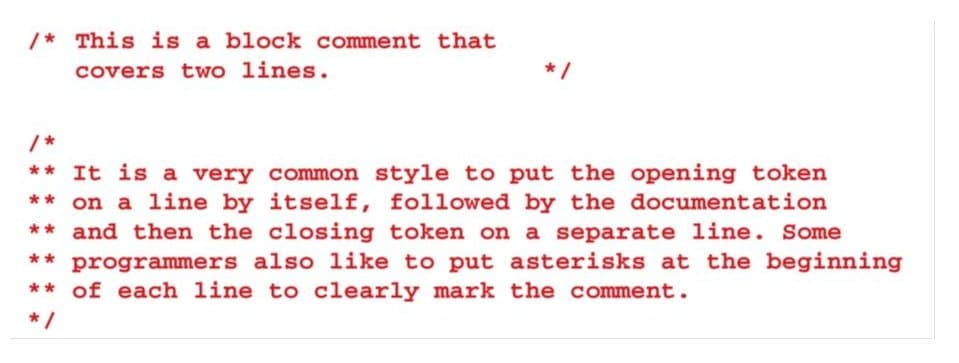 example of commenting in computer programming, type coding interview questions