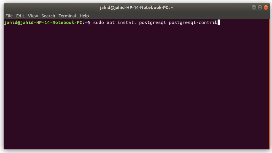 installation of postgresql in ubuntu