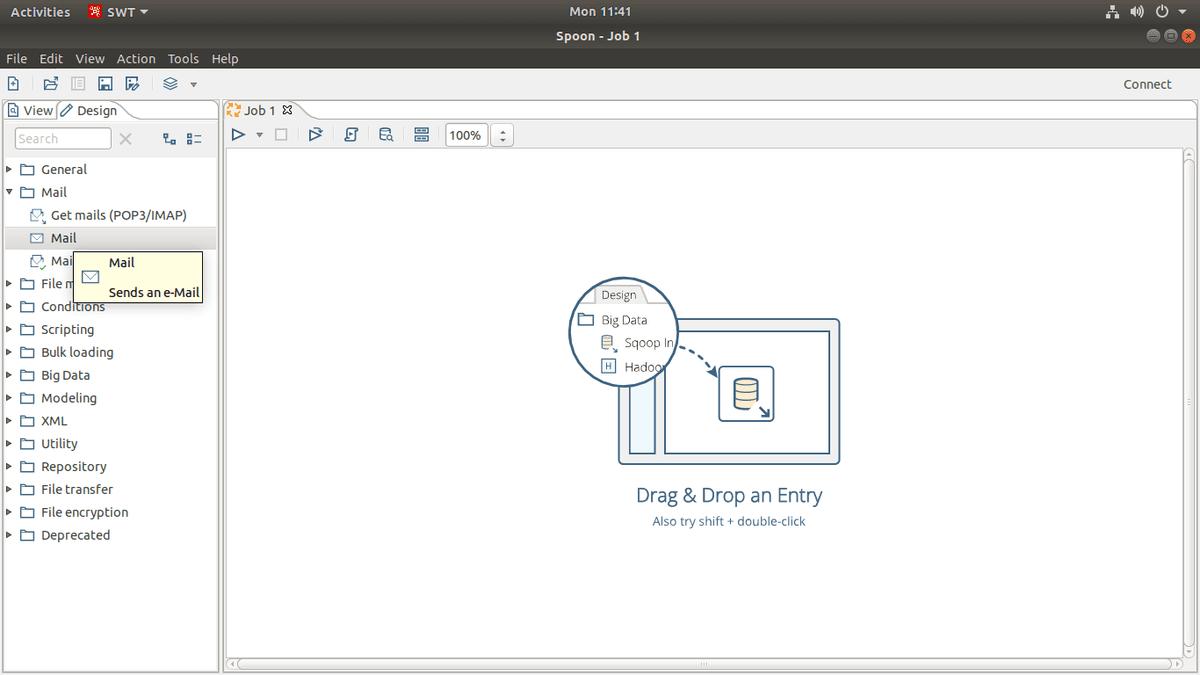 mail job of pentaho data integration
