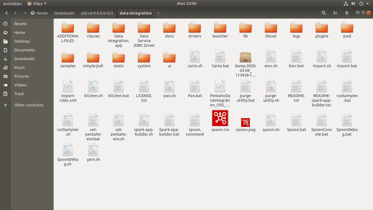 pentaho data integration folder view.png