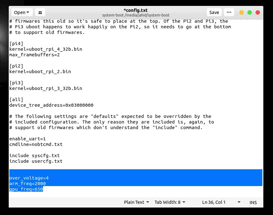 overclocking raspberry pi ubuntu server