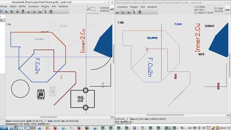 Pcb-rnd in free EDA tools