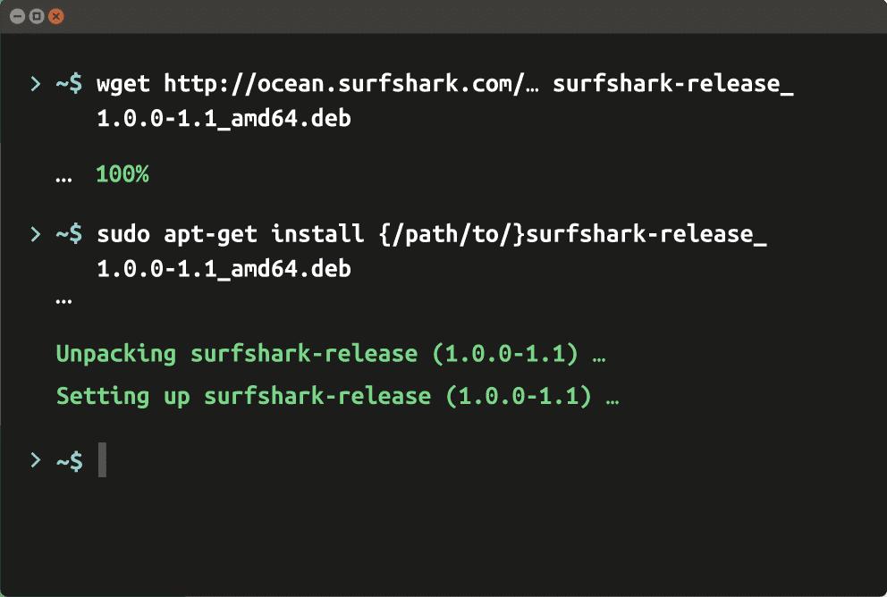 Install Surfshark VPN Client in Linux System