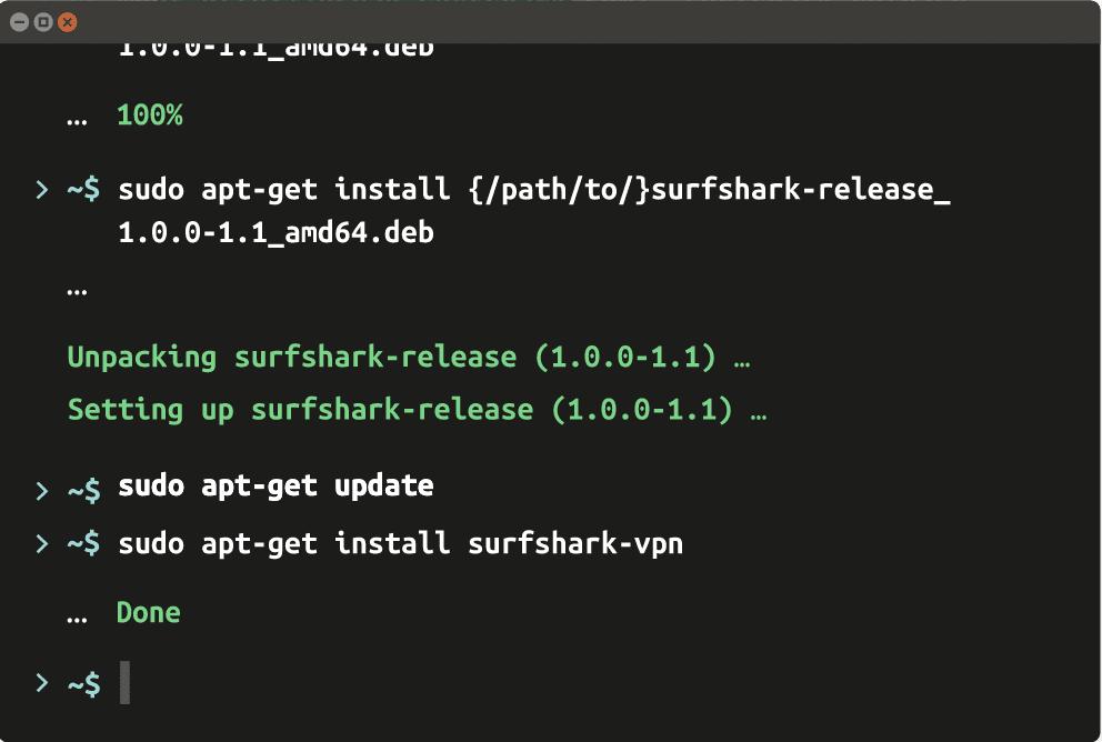 Surfshark VPN Client in Linux System