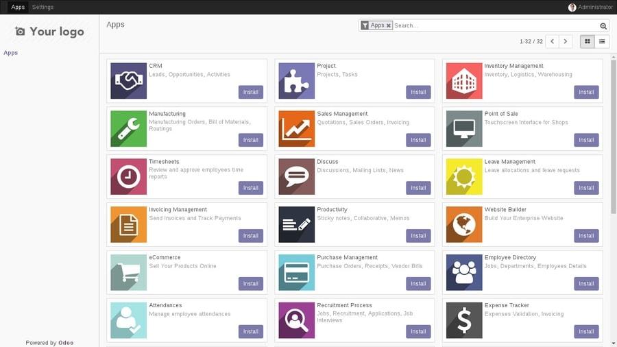 all Odoo apps on Ubuntu