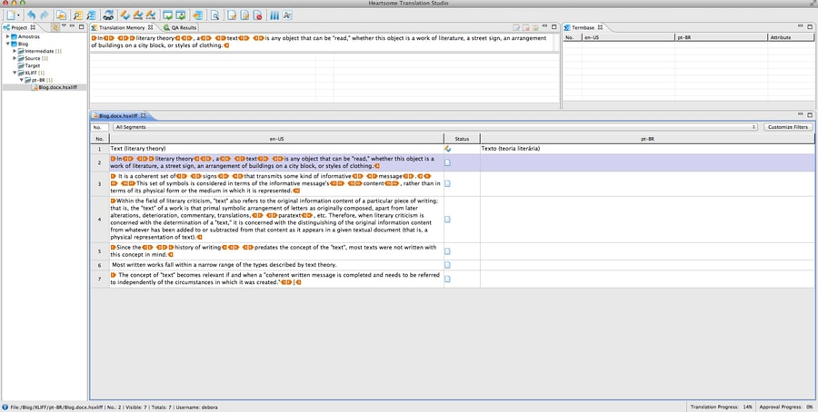 heartsome_tmx_editor - open source translation tools