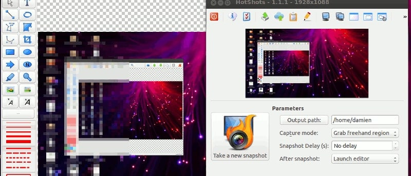 hotshots Linux screenshot tools