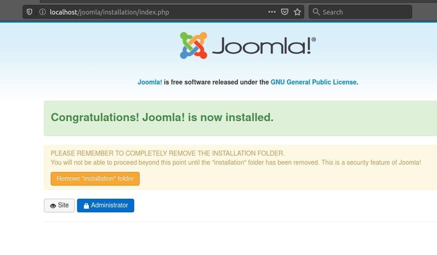 joomla sql delete ubuntu
