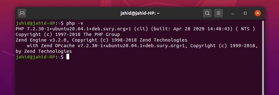 php version on OwnCloud Ubuntu