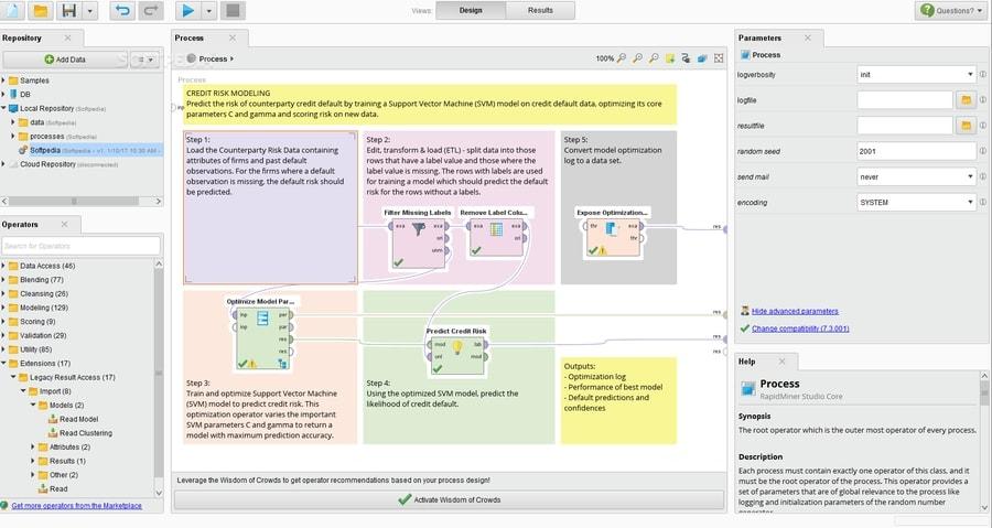 RapidMiner - open-source BI tools