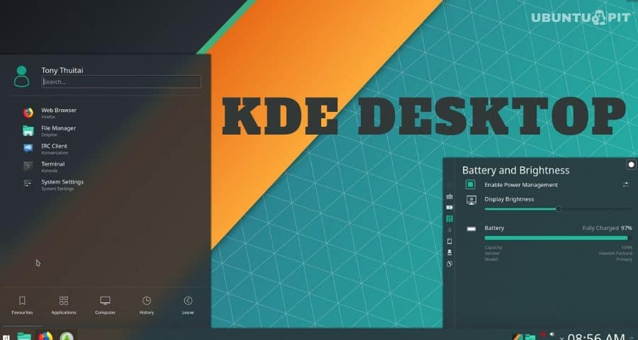 Use KDE Desktop As Linux Desktop Environment