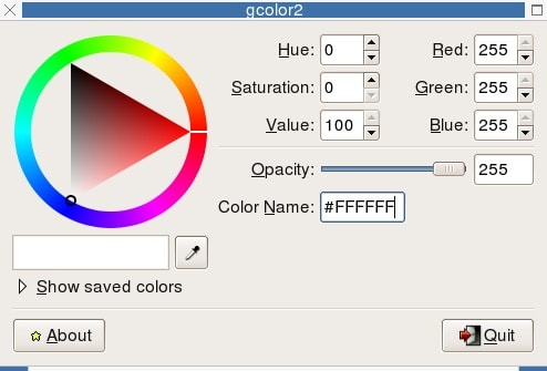 gpick - color picker tools for Linux