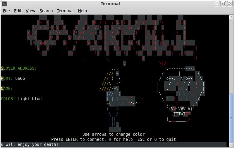 overkill - ASCII Games on Linux