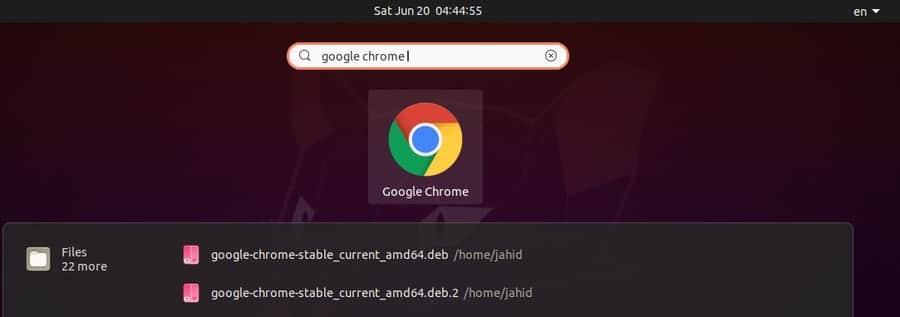 ubuntu top search
