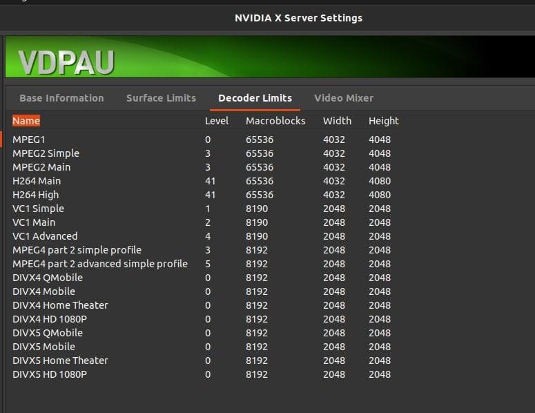 NVDIA codec for ubuntu