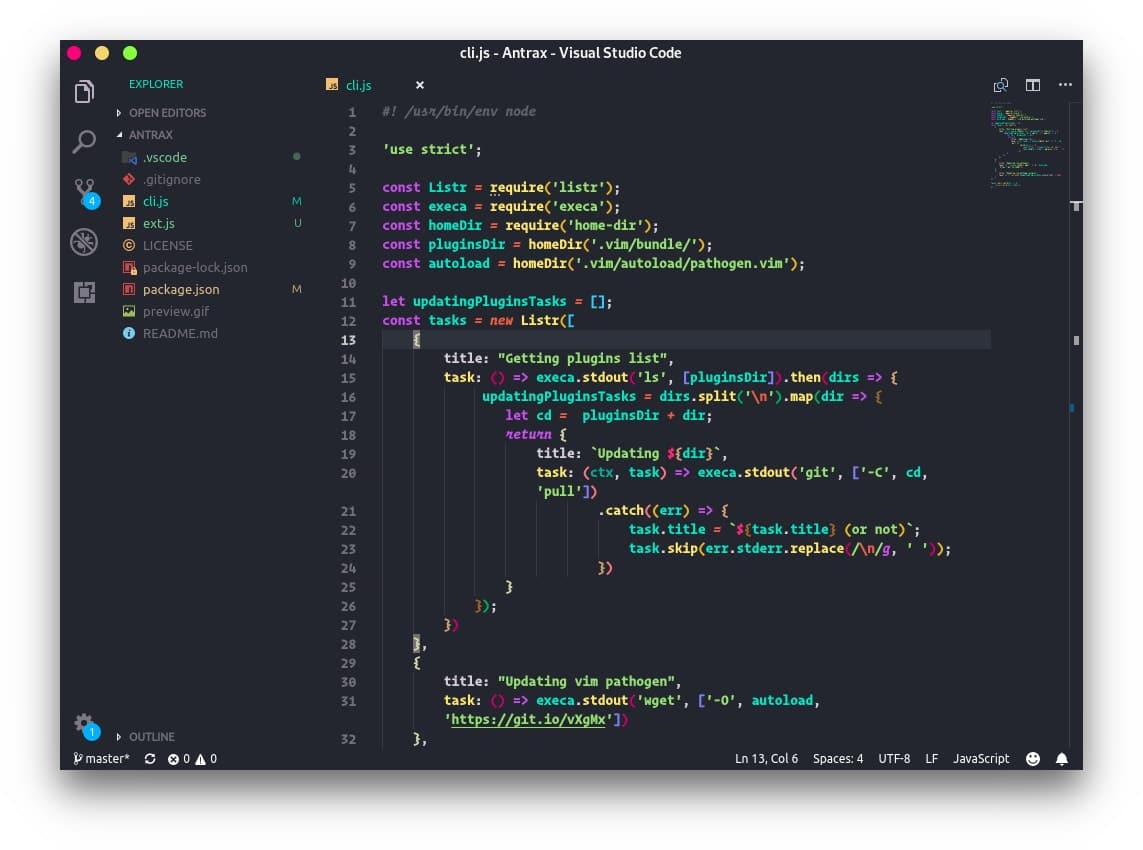andromeda in vscode themes