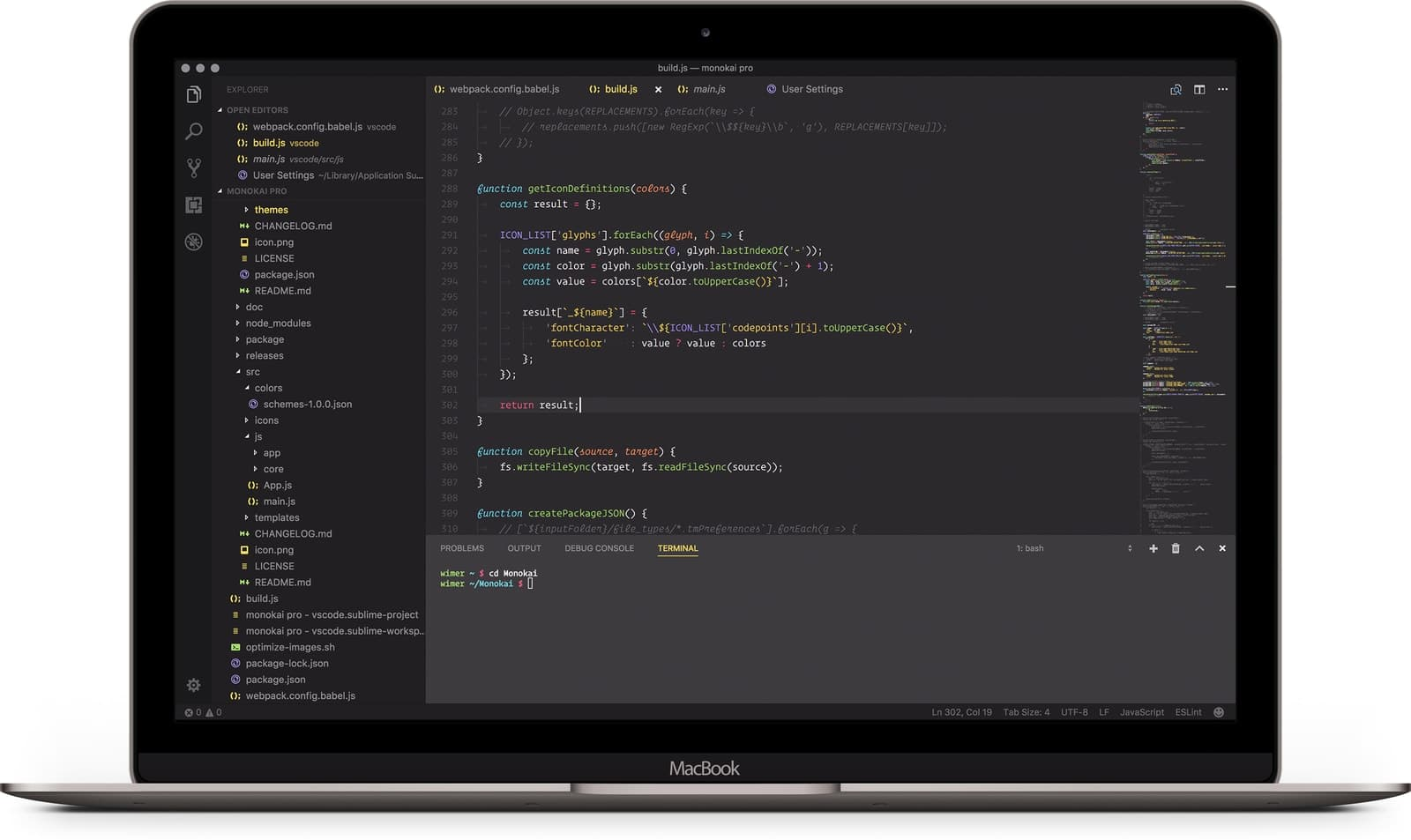 monokai pro in best vscode themes