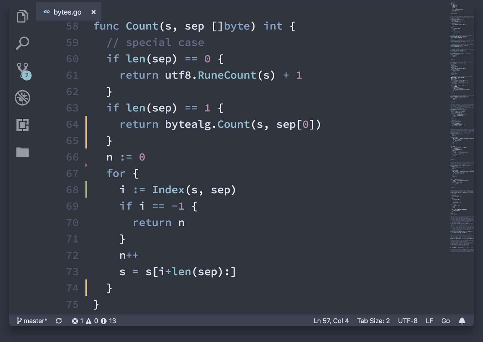 nord in vscode themes