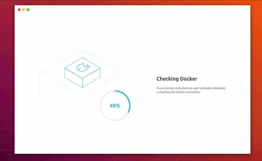 Kitematic on Ubuntu Linux checking