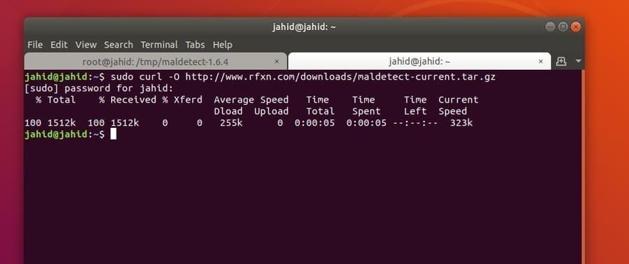 LMD on Linux curl download