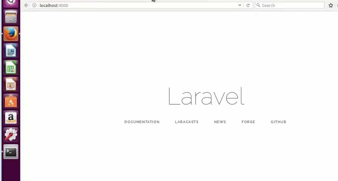 Laravel PHP Framework browser
