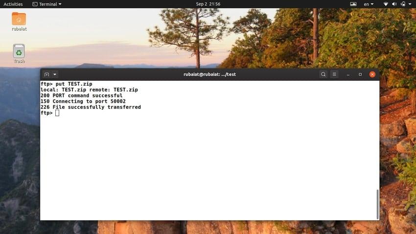 Linux ftp command for uploading multiple files