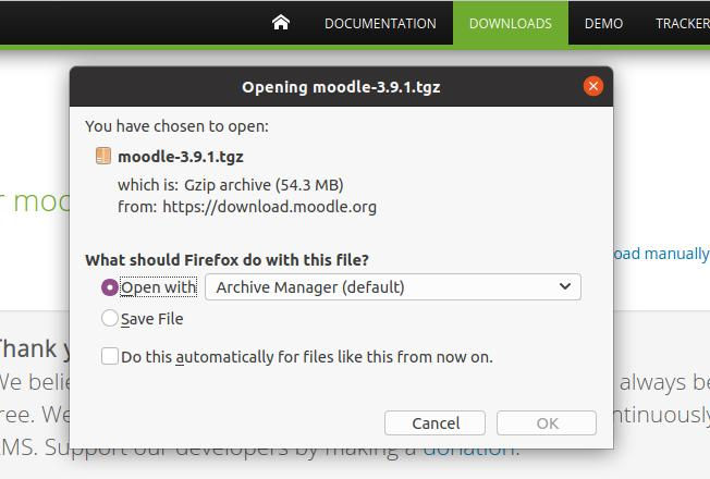 download moodle learning platform for ubuntu