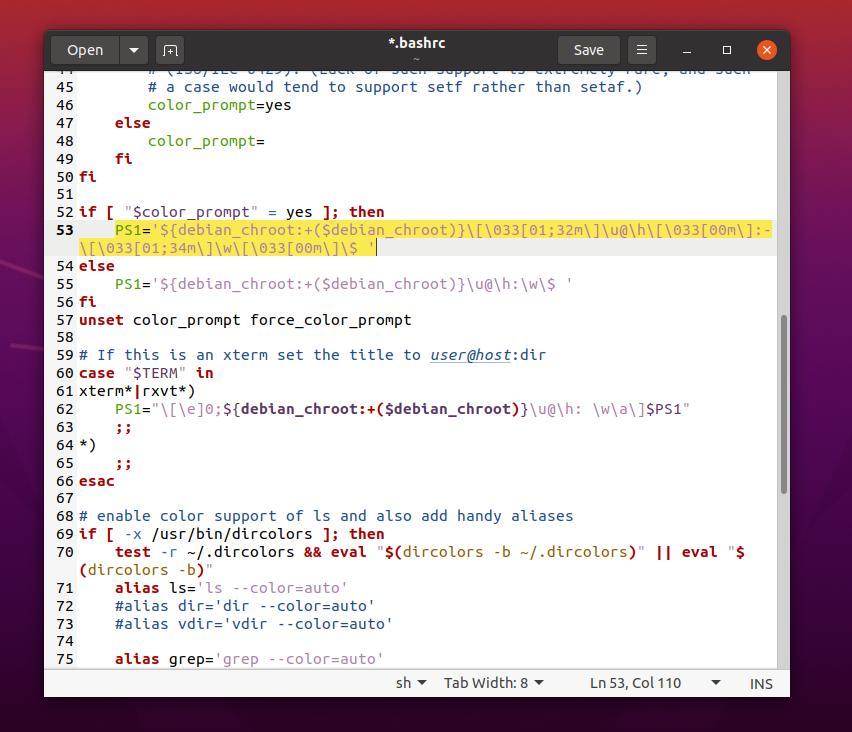 gedit change hostname and username on Linux