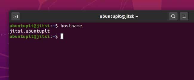 hostname jitsi meet on ubuntu