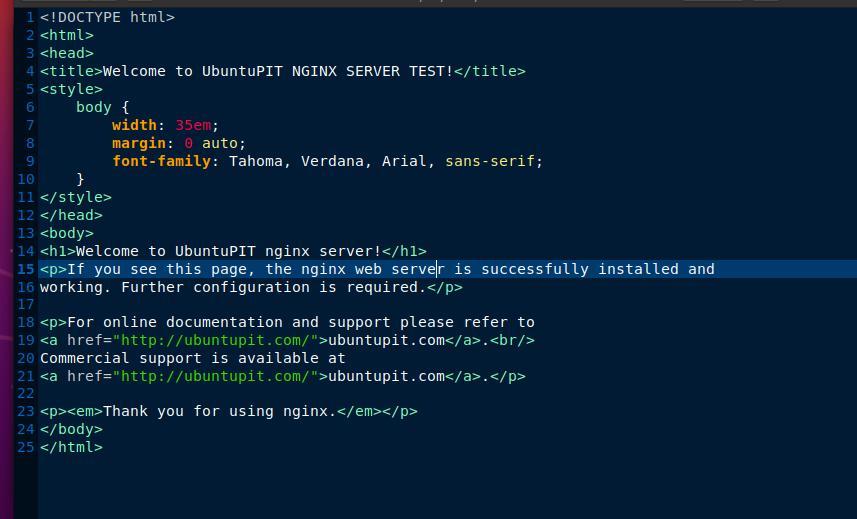 welcome ubuntu pit Nginx server