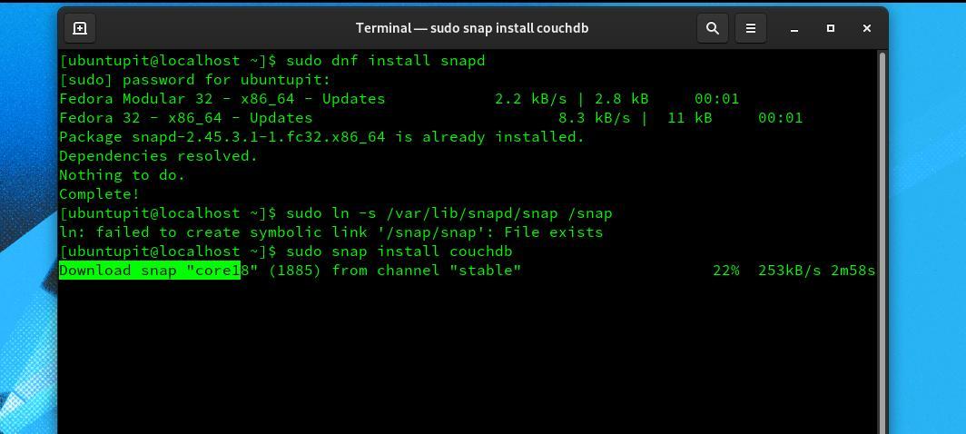 CouchDB on Linux fedora