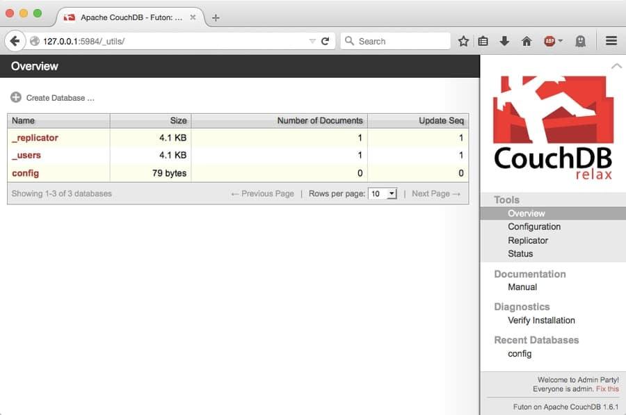 CouchDB on Linux web
