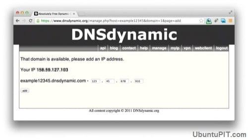 DNSdynamic