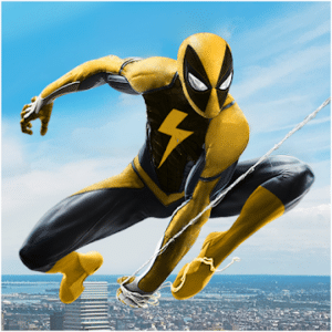 Flying Spider Rope Hero, Spiderman game for Android