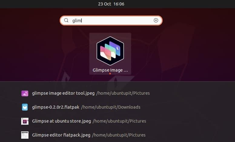 Glimpse Image Editor on Linux