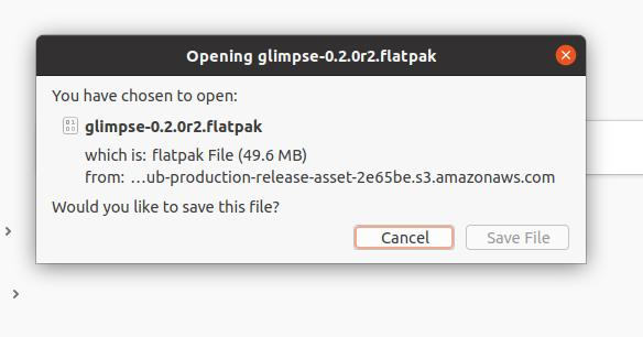 Glimpse editor flatpack