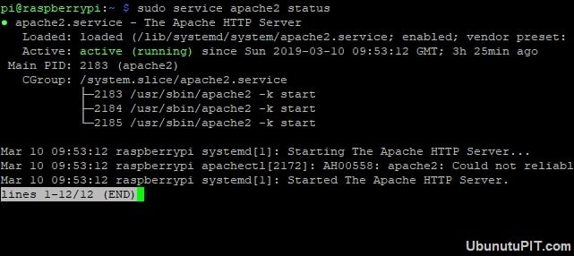Host a website on raspberry pi -Active Apache