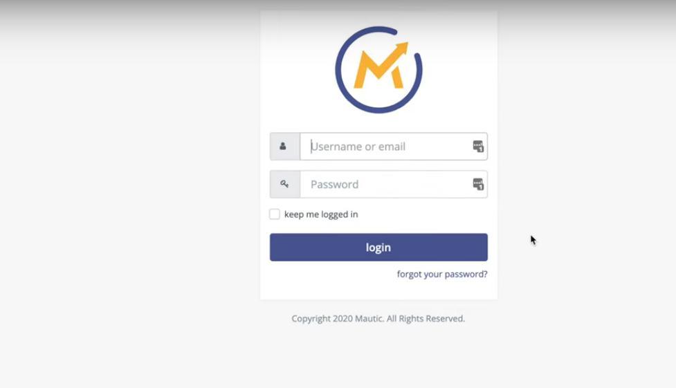Mautic Marketing Automation Tool Login