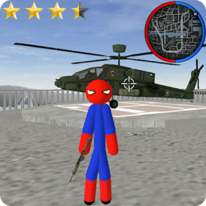 Spider Stickman Rope Hero, Spiderman game for Android
