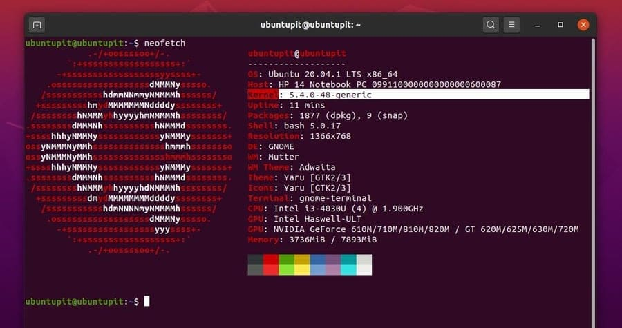 Upgrade Linux Kernel neofetch